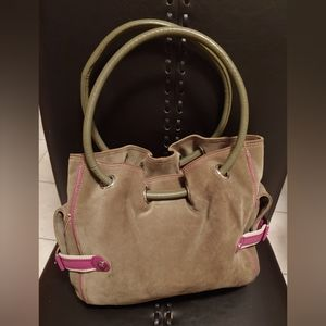 ✨Gorgeous✨ Cole Haan Kelsey Olive Suede Bag